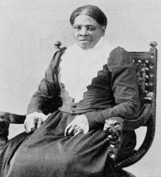 Harriet Tubman sitting for camera